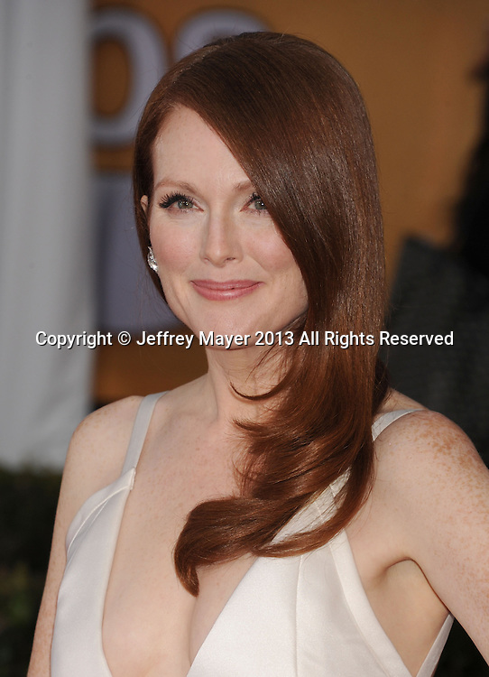 LOS ANGELES, CA - JANUARY 27: Julianne Moore arrives at the 19th Annual Screen Actors Guild Awards at the Shrine Auditorium on January 27, 2013 in Los Angeles, California.