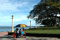 Rizal Boulevard in Dumaguete  was named after Dr. Jose Rizal, it is said that Dr Rizal made a brief visit and took a stroll here before departing to neighboring Dapitan where he was exiled for four years following the Spanish authorities' suspicion that he was about to lead a revolution.  The Boulevard is immediately visible when coming into Dumaguete port via any sea vessel. From the white lamp posts lining up the stretch to the stately palms swaying in the breeze, Rizal Boulevard is a favorite landmark for residents and visitors.