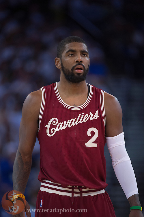 December 25, 2015; Oakland, CA, USA; Cleveland Cavaliers guard Kyrie Irving (2) during the fourth quarter in a NBA basketball game on Christmas against the Golden State Warriors at Oracle Arena. The Warriors defeated the Cavaliers 89-83.