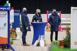 Jury, Dirksen Henk, NED, Klompmaker Hester, NED<br /> KWPN Hengstenkeuring 2021<br /> © Hippo Foto - Dirk Caremans<br />  06/02/2021