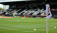 Corner flag at Craven Cottage during the Sky Bet Championship match between Fulham and Middlesbrough at Craven Cottage, London, England on 25 April 2015. Photo by Matthew Redman.