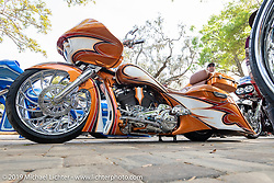 Ed White's Chopp Shop Shannon Davidson custom Road Glide with Metalsport Wheels at the Perewitz Paint Show at the Broken Spoke Saloon during Daytona Beach Bike Week, FL. USA. Wednesday, March 13, 2019. Photography ©2019 Michael Lichter.