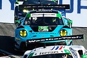 October 30-Nov 1, 2020. IMSA Weathertech Raceway Laguna Seca: #16 Wright Motorsports, Porsche 911 GT3 R, Ryan Hardwick, Patrick Long