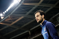 October 6, 2017 - Turin, Italy - Marco Parolo of Italy national team looks on during the 2018 FIFA World Cup Russia qualifier Group G football match between Italy and FYR Macedonia at Stadio Olimpico on October 6, 2017 in Turin, Italy. (Credit Image: © Mike Kireev/NurPhoto via ZUMA Press)
