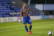 Donald Love of Shrewsbury Town during the EFL Trophy match between Shrewsbury Town and U21 Newcastle United at Greenhous Meadow, Shrewsbury, England on 22 September 2020.