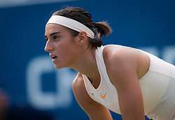 August 28, 2018 - Caroline Garcia of France in action during the first round of the 2018 US Open Grand Slam tennis tournament. New York, USA. August 28th 2018. (Credit Image: © AFP7 via ZUMA Wire)