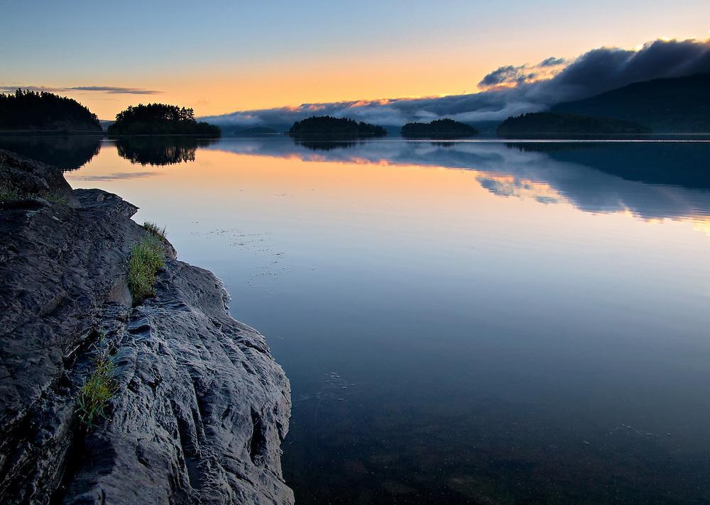 Norway - Tyrifjorden lake during sunrise