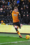 Hull City midfielder Sam Clucas takes corner  during the Sky Bet Championship match between Hull City and Bolton Wanderers at the KC Stadium, Kingston upon Hull, England on 12 December 2015. Photo by Ian Lyall.