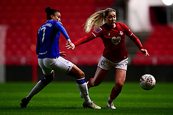 Poppy Pattinson of Bristol City is challenged by Chantelle Boye-Hlorkah of Everton Women - Mandatory by-line: Ryan Hiscott/JMP - 17/02/2020 - FOOTBALL - Ashton Gate Stadium - Bristol, England - Bristol City Women v Everton Women - Women's FA Cup fifth round