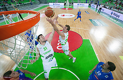 Matej Krusic of Slovenia and Zoran Dragic of Slovenia during basketball match between National teams of Slovenia and Bosna and Herzegovina in day 1 of Adecco cup, on August  3, 2012 in Arena Stozice, Ljubljana, Slovenia. (Photo by Vid Ponikvar / Sportida.com)