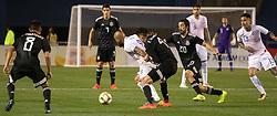 March 22, 2019 - Arturo Vidal (8) of Chile fights Edson Alvarez (4) and Rodolfo Pizarro (20) of Mexico for the ball during Mexico's 3-1 victory over Chile. (Credit Image: © Rishi Deka/ZUMA Wire)