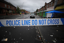 Undated file photo of police tape. Public concern about crime is at its highest level since the 2011 riots, polling suggests.