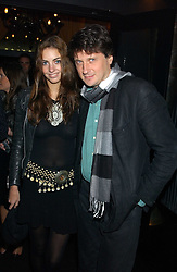LORD JOHNSTON SOMERSET and MISS ROSE HANBURY at a party to celebrate the publication of Tatler's Little Black Book 2005 held at the Baglioni Hotel, 60 Hyde Park Gate, London SW7 on 9th November 2005.<br />