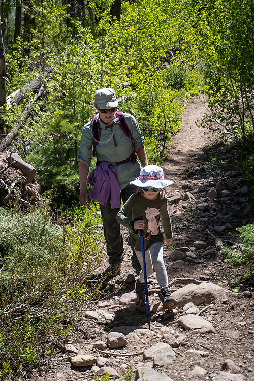 Hiking with Sam and Eleanor on the Rainbow and Swift Creek trails into the Sangre de Cristo Wilderness Area.