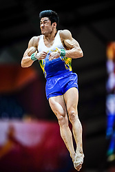 October 29, 2018 - Doha, Qatar - Arthur Mariano of Brazil   during  Vault, Team final for Men at the Aspire Dome in Doha, Qatar, Artistic FIG Gymnastics World Championships on October 29, 2018. (Credit Image: © Ulrik Pedersen/NurPhoto via ZUMA Press)