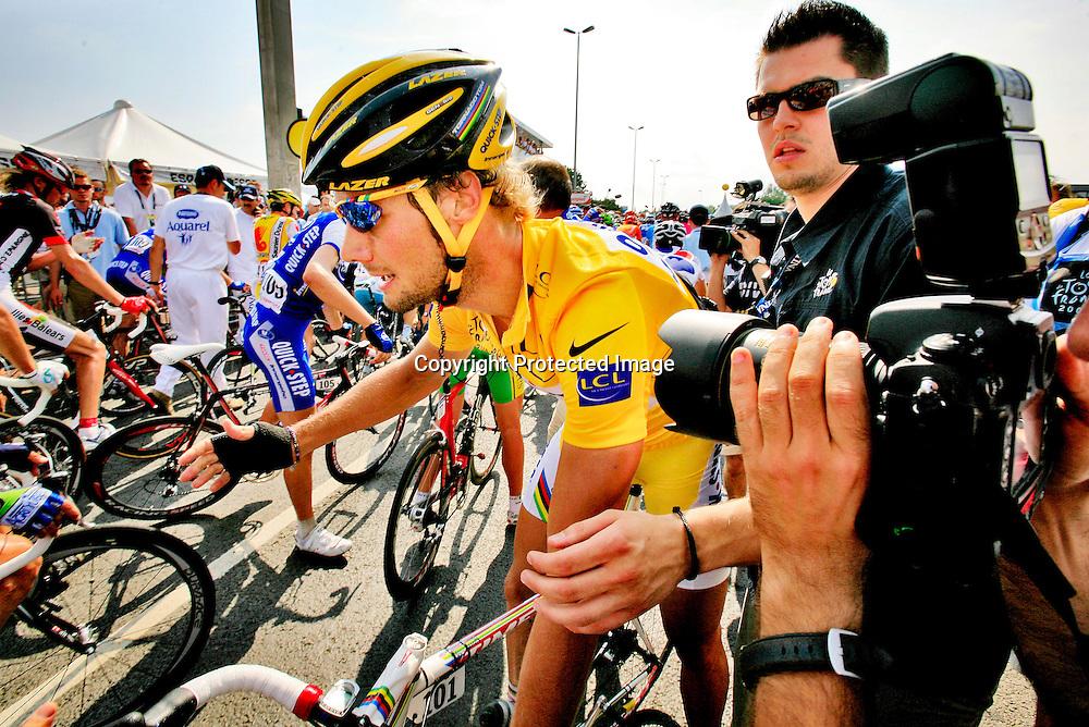 Caen, Frankrike, 20060706:  Tom Boonen på den femte etappen i Tour de France. ..Foto: Daniel Sannum Lauten/ Dagbladet *** Local Caption *** Boonen,Tom