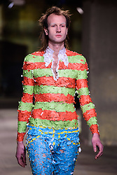 Models wear designs by Rottingdean Bazaar on the catwalk during the MAN London Fashion Week Men's AW18 show, held at the Old Selfridge's Hotel, London. Picture date: Sunday January 7th, 2018. Photo credit should read: Matt Crossick/ EMPICS Entertainment.