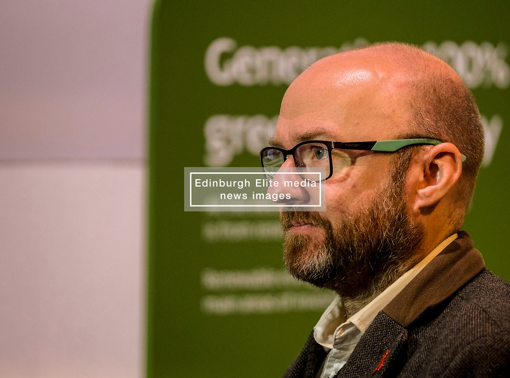 Patrick Harvie, Monday 2nd December 2019<br /> <br /> Pictured: Scottish Greens Co-Leader Patrick Harvie MSP visits the UK's largest onshore windfarm where he called for the devolution of energy policy to help Scotland tackle the climate crisis.<br /> <br /> Alex Todd   Edinburgh Elite media
