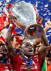 June 2, 2019 - Madrid, Spain - 190602 Sadio Mane of Liverpool celebrate with the trophy after the UEFA Champions League final between Tottenham and Liverpool on June 2, 2019 in Madrid..Photo: Petter Arvidson / BILDBYRÃ…N / kod PA / 92302 (Credit Image: © Petter Arvidson/Bildbyran via ZUMA Press)