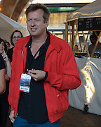 Doug Aitken during the Station to Station tour, an artist-driven public art project made possible by Levi's.