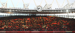 26 April 2016 London : Premier League Football : Arsenal v Leicester City :<br /> plenty of empty seats at the Emirates Stadium on kick off time.<br /> Photo: Mark Leech