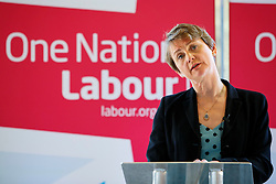© Licensed to London News Pictures. 18/11/2014. LONDON, UK. Yvette Cooper MP, Labour's Shadow Home Secretary delivers a speech on immigration at the Coin Street Conference Centre in London on Tuesday 18 November 2014. Photo credit : Tolga Akmen/LNP