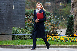 © Licensed to London News Pictures. 13/03/2018. London, UK. Secretary of State for Work and Pensions Esther McVey on Downing Street for the Cabinet meeting. Photo credit: Rob Pinney/LNP