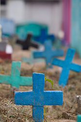 Colorful cemetery just before Day of the Dead, Chichicastenango, Guatemala