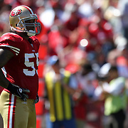 San Francisco 49ers outside linebacker Ahmad Brooks (55)during an NFL football game between the Dallas Cowboys and the San Francisco 49ers at Candlestick Park on Sunday, Sept. 18, 2011 in San Francisco, CA.  (Photo/Alex Menendez)