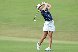 March 2, 2019 - Singapore - In Gee Chun of South Korea plays a shot on the 1st hole during the third round of the Women's World Championship at the Tanjong Course, Sentosa Golf Club. (Credit Image: © Paul Miller/ZUMA Wire)