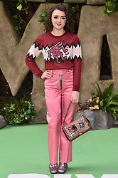 Maisie Williams attending the Early Man World Premiere held at the BFI Imax, London. Picture date: Sunday January 14th, 2018. Photo credit should read: Matt Crossick/ EMPICS Entertainment.