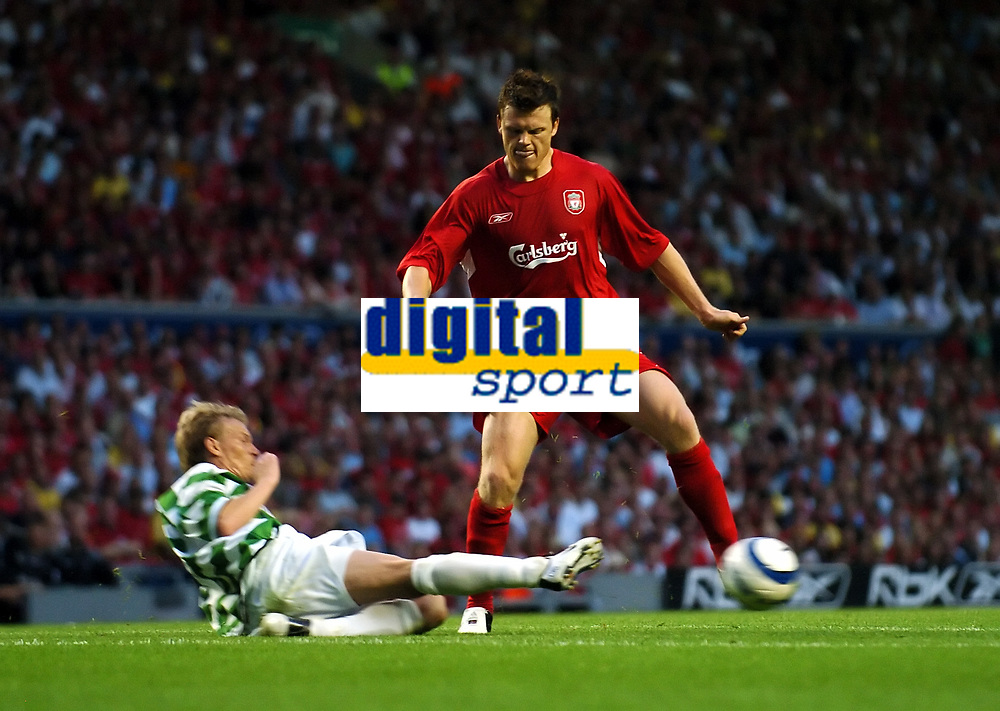 John Arne Riise <br />Liverpool 2005/06<br />Martyn Naylor TNS<br />Liverpool V Total Network Soloutions (3-0) 13/07/05<br />UEFA Champions League Qualifier, 1st Round 1st Leg<br />Photo Robin Parker Fotosports International