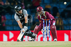 © Licensed to London News Pictures. 01/10/2012. New Zealander Ross Taylor batting in the super over during the T20 Cricket World super 8's match between New Zealand Vs West Indies at the Pallekele International Stadium Cricket Stadium, Pallekele. Photo credit : Asanka Brendon Ratnayake/LNP