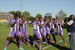 22042018 (Durban) Maritzburg United players celebrates the goal during Maritzburg United FC make their way to the final of the Nedbank when playing against Mamelodi Sundowns FC at the Harry Gwala Stadium in Pietermaritzburg, KZN yesterday.Picture: Motshwari Mofokeng/ANA