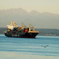 China Shipping Line on Elliott Bay