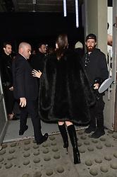 Bella Hadid arrives for the Michael Kors pop up store event in New York. 05 Feb 2019 Pictured: Bella Hadid, Michael Kors. Photo credit: Neil Warner/MEGA TheMegaAgency.com +1 888 505 6342
