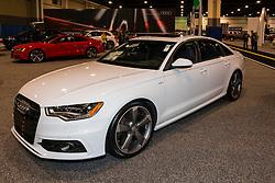 CHARLOTTE, NORTH CAROLINA - NOVEMBER 20, 2014: Audi S6 sedan on display during the 2014 Charlotte International Auto Show at the Charlotte Convention Center.
