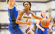 Lutheran North's Kaylynn Hayden drives along the baseline during a Class 3 sectional basketball game  on Wednesday, Feb. 27, 2019, at Francis Howell Central High School in Cottleville, Mo.  Gordon Radford   Special to STLhighschoolsports.com