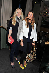 Left to right, ASTRID HARBORD and AMANDA CROSSLEY at the Beulah AW13 Showcase, Bungalow 8 LFW Pop-Up at Belgraves - A Thompson Hotel, 20 Chesham Place, London SW1 on 13th February 2013.