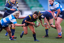 Caity Mattinson of Worcester Warriors Women is tackled by Chloe Broom of DMP Durham Sharks - Mandatory by-line: Nick Browning/JMP - 09/01/2021 - RUGBY - Sixways Stadium - Worcester, England - Worcester Warriors Women v DMP Durham Sharks - Allianz Premier 15s