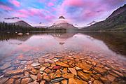Sunrise at Two Medicine Lake, Glacier National Park