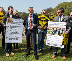 Scottish Liberal Democrat leader Willie Rennie launches the party's General Election Commit Card in Edinburgh.<br /> <br /> © Dave Johnston/ EEm
