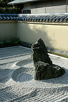 Ryogen-in, the head temple of the South School of Rinzai-shu Daitoku-ji sect, has a collection of zen gardens including Ryogin-tei a Karesansui or Zen garden laid out in the early 16th century.