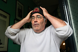 © Licensed to London News Pictures. 09/05/2019. London, UK. Former BBC Radio 5 Live host Danny Baker speaks to media outside his home in South East London, after he was sacked by the BBC following a tweet about the birth of the royal baby, Archie Harrison Mountbatten-Windsor. The tweet contained a picture of an ape. Photo credit : Tom Nicholson/LNP