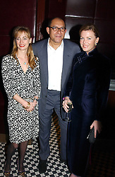 Left to right, CLEMENTINE HAMBRO, BRUCE OLDFIELD and EIMEAR MONTGOMERIE at a fund raising dinner hosted by Marco Pierre White and Frankie Dettori's in aid of Conservative Party's General Election Campaign Fund held at Frankie's No.3 Yeoman's Row,¾London SW3 on 17th January 2005.<br />