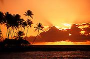 Sunset, Mauna Lani Resort, Kohala Coast, Big Island of Hawaii, Hawaii