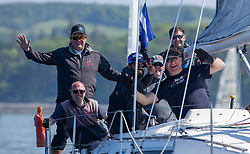 Day 3 Scottish Series, SAILING, Scotland.<br /> <br /> Class 6, Salamander XXII, Moody 336, 3361C<br /> <br /> The Scottish Series, hosted by the Clyde Cruising Club is an annual series of races for sailing yachts held each spring. Normally held in Loch Fyne the event moved to three Clyde locations due to current restrictions. <br /> <br /> Light winds did not deter the racing taking place at East Patch, Inverkip and off Largs over the bank holiday weekend 28-30 May. <br /> <br /> Image Credit : Marc Turner / CCC