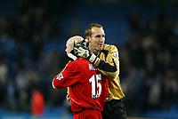 Fotball, 30. november 2003, Premier League, Manchester City - Middlesbrough 0-1,    Mark Schwarzer og Danny Mills  Middlesbrough, <br /> ,