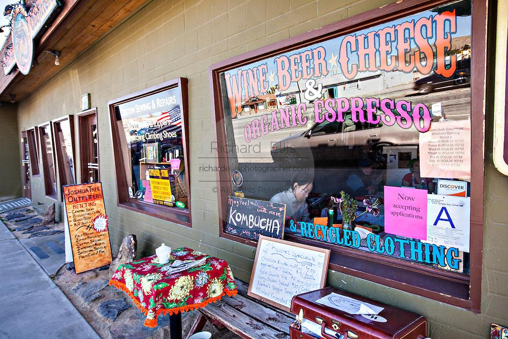 Richochet restaurant in the Mojave desert town of Joshua Tree, California.