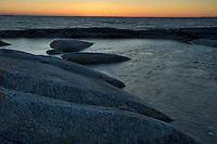 Coastal landscape in Kallskär at sunset.<br /> Stockholm Archipelago, Sweden